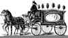 Horse Drawn Hearse Clipart Image