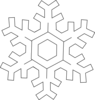 Snowflake Thin Outline Clip Art