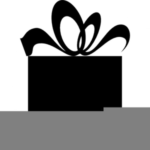 Gift Box Clipart Black And White