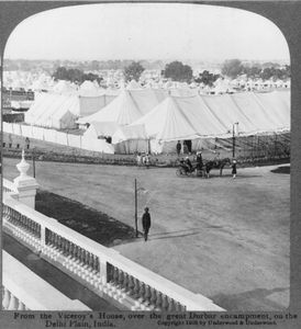 From The Viceroy S House, Over The Great Durbar Encampment, On The Delhi Plain, India Image
