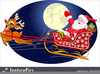 Santa Claus With Sleigh Clipart Image
