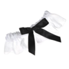 Topwedding White Organza Wedding Garter With Black Satin Bowknot Image