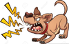 Angry Dogs Clipart Image