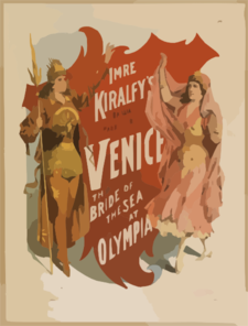 Imre Kiralfy S Brilliant Production, Venice, The Bride Of The Sea At Olympia Clip Art