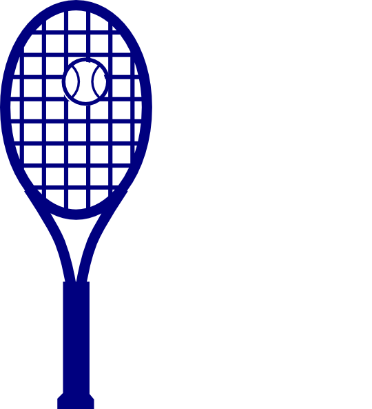 blue tennis racket clip art at clker com vector clip art online rh clker com tennis racquet clipart tennis racket clipart black and white