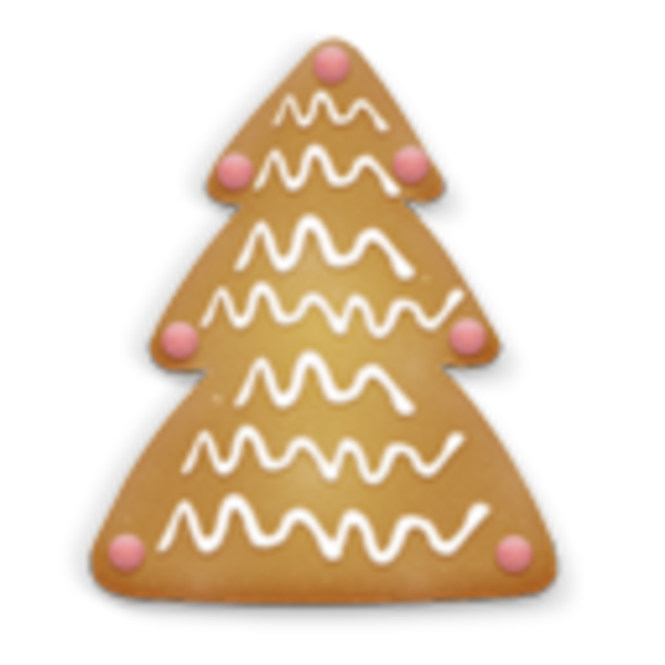 Christmas Cookie Tree 2 Icon | Free Images at Clker.com ...