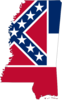 Px Flag Map Of Mississippi Image
