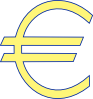 Archie Symbol Money Euro Simple Clip Art