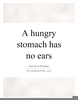 Hungry Stomach Quotes Image