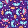Butterfly Seamless Repeat Pattern Vector Illustration Image