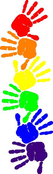 Rainbow Handprints #2 Clip Art at Clker.com - vector clip ...