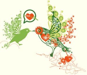 Bird Heart Talk Love Image