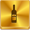 Free Gold Button Wine Bottle Image