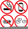 No Gum Chewing Clipart Image