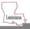 Louisiana Map State Clipart Image