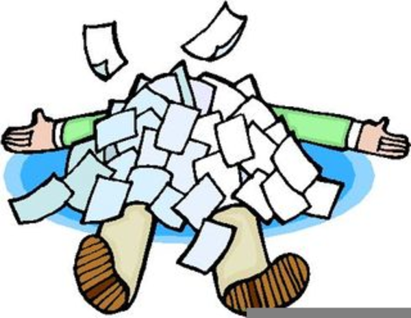 buried under paperwork clipart free images at clker com vector rh clker com paperwork overload clipart paperwork clip art black and white