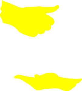 Yellow Hand Silhouettes Clip Art