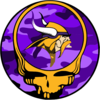 Grateful Dead Logo Purple Camo Yellow Skull Clip Art