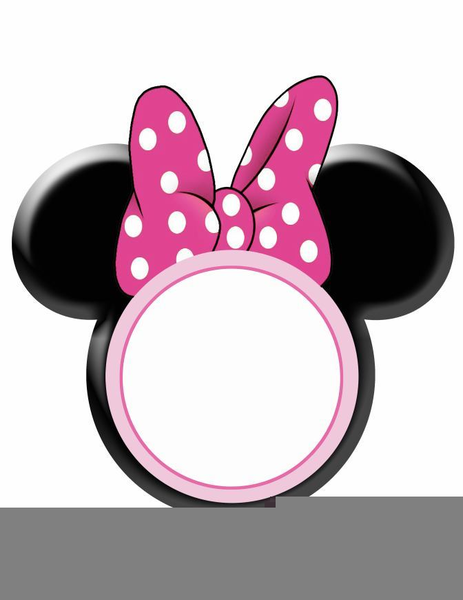 Minnie mouse small. Pink bow clipart free