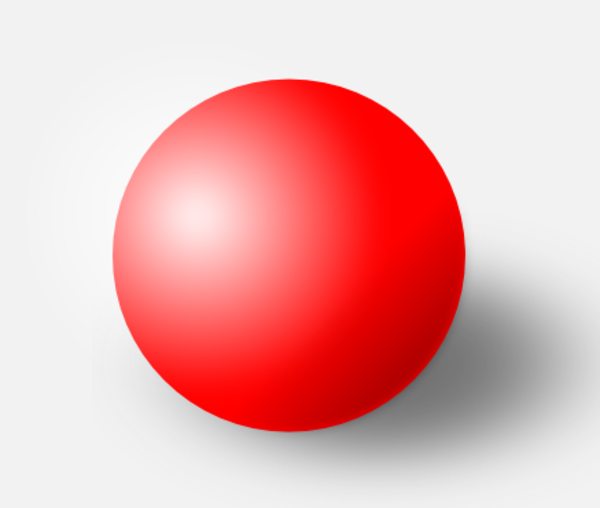 a red ball