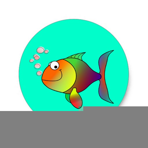 Fish Blowing Bubbles Image