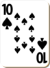 Ten Of Spades Clip Art
