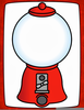 Clipart Bubble Gum Machine Image