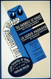 W.p.a. Federal Music Project Of New York City [presents] Two Chamber Operas,  The Romance Of Robot  [and]  La Serva Padrona  Image