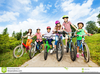 Children Riding Bikes Clipart Image