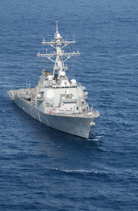 The Guided Missile Destroyer Uss Donald Cook (ddg 75) Underway. Image