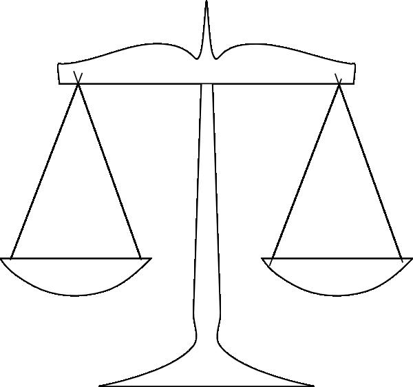 Scale Of Justice Clip Art At Clker Com Vector Clip Art