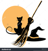 Clipart Of A Witch On A Broom Image