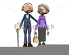 Free Elderly Couple Clipart Image
