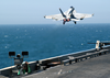 An F/a-18e Super Hornet Launches From One Of Four Steam Powered Catapults On The Flight Deck Aboard Uss Abraham Lincoln (cvn 72). Image