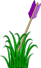 Arrow In The Grass Clip Art