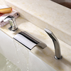Chrome Finish Contemporary Brass Tub Faucet With Hand Shower-- Faucetsuperdeal.com Image