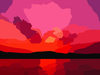 Sunset Sunroy Vector Colour Enhance Image