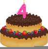 Clipart Birthday Cakes With Candles Image