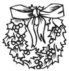 Black White Gingerbread Clipart Image