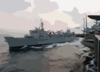 Uss Camden And Uss Lincoln Conduct An Unrep Clip Art