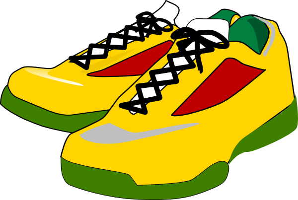 running shoes clip art at clker com vector clip art online rh clker com free clipart running shoes running shoes clip art free