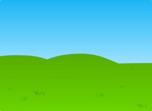 Plain Grass And Sky Clip Art
