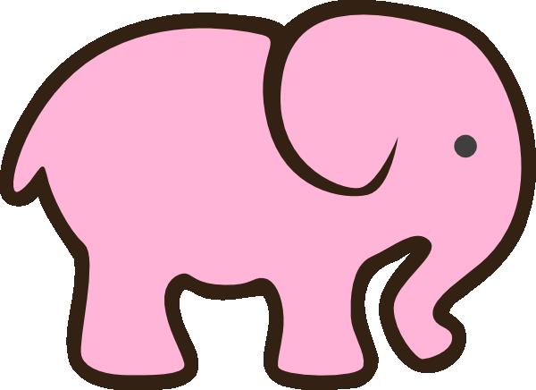 Cute Funny Cartoon Pink Baby Elephant Stock Vector ... |Cartoon Baby Elephant Pink