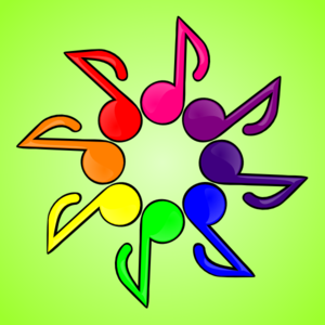 Green Note Rainbow Clip Art
