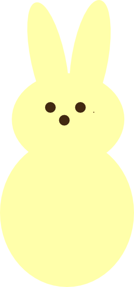yellow peep clip art at clker com vector clip art online peep clipart free peeps clip art for kids