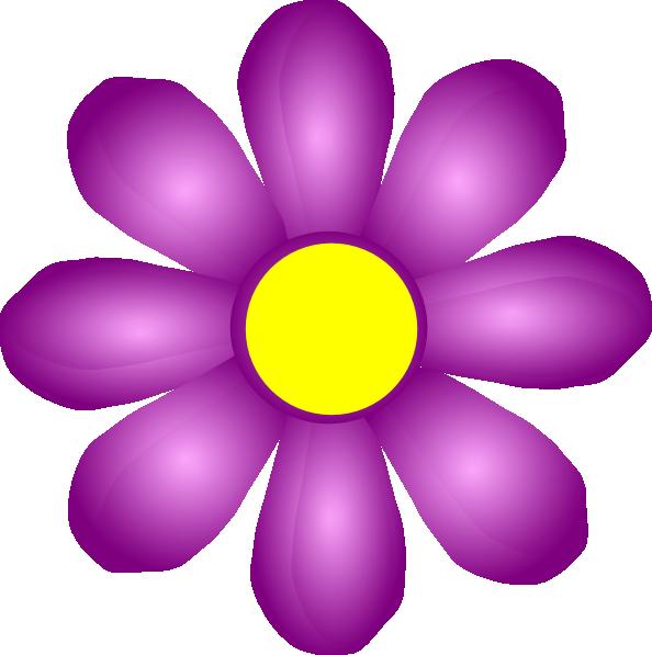 Purple Cartoon Flower Clipart Violet Flower Clip Art...