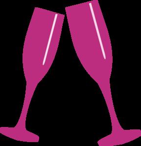 Champagne Glass Pink Clip Art At Clker Com Vector Clip Art Online