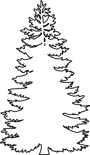Pine Tree Outline | Search Results | Calendar 2015