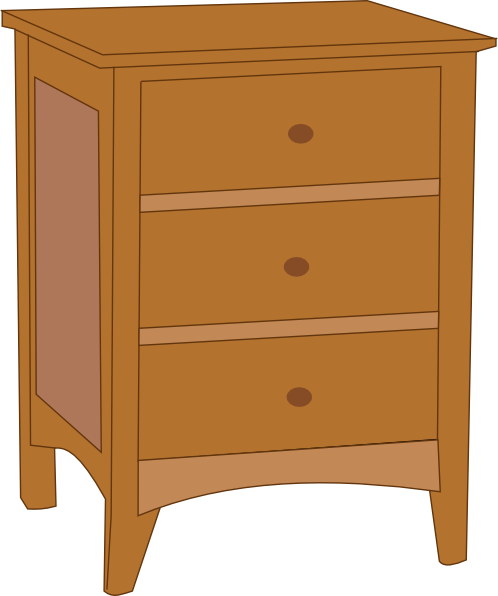 Bedside table clipart  Table Clip Art at Clker.com - vector clip art online, royalty free ...