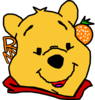 Winnie The Pooh With Orange Red Lip Clip Art
